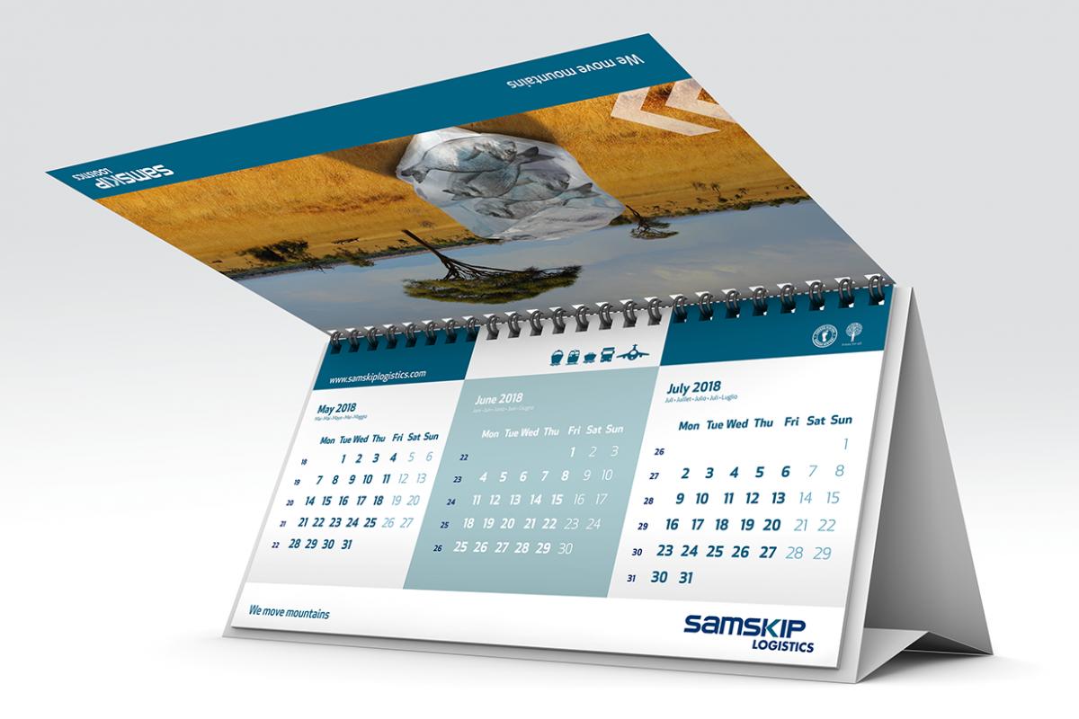 Samskip bureaukalender risign for Bureau kalender
